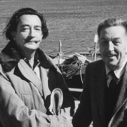 Walt Disney with Salvador Dalí