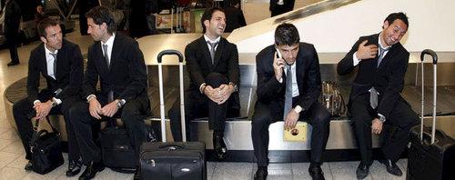 With spanish team mates