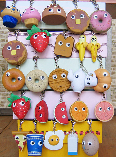 Yummy Breakfast Keychains Closer Look