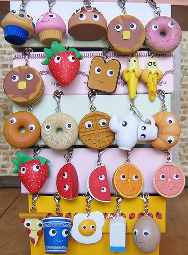 Keychains wallpaper entitled Yummy Breakfast Keychains Closer Look