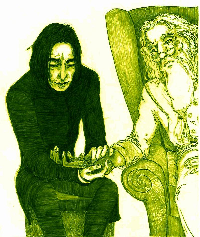 You think Snape knew about Dumbledore's history (and his ... Dumbledore Vs Snape