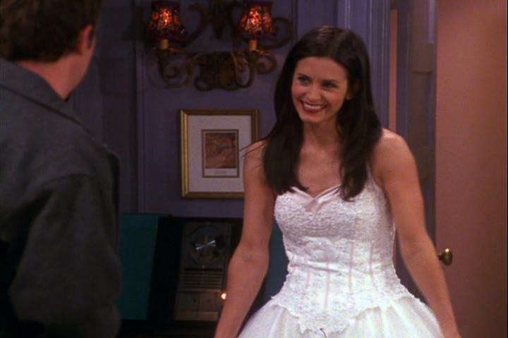 Who39s wedding dress looked the nicest poll results for Friends wedding dress