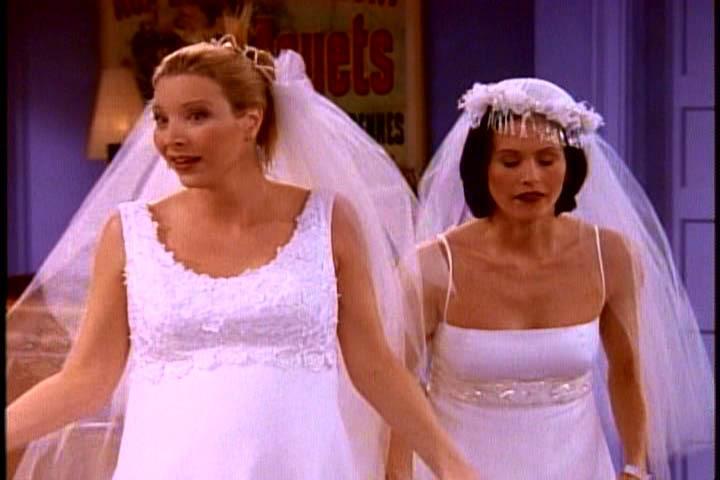 Whos Wedding Dress Looked The Nicest Friends Fanpop