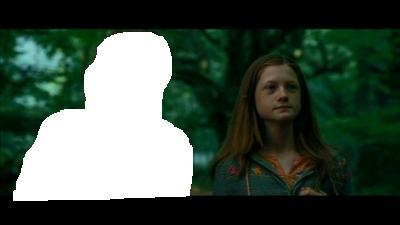 Who is walking with Ginny in the photo?