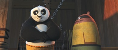Master Shifu says the practice dummy (to the right of Po) is only used for...