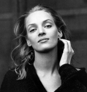 What is the title of the QT movie starred by Uma Thurman for the first time?