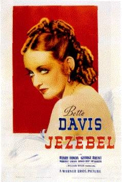 Bette Davis causes a 《丑闻》 in the film 'Jezebel' when she arrives to a party wearing what color of dress?