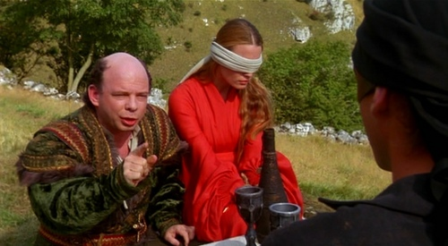 "Who is NOT one of the three great philosophers that Vizzini refers as ""morons""?"