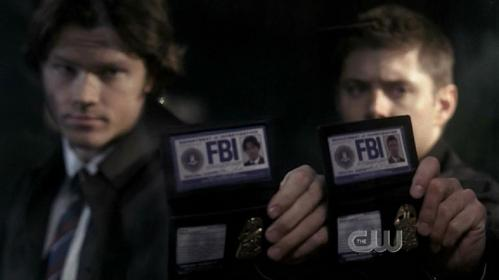 In which episode does Dean go to create an alias but is stopped by Sammy before he can finish?