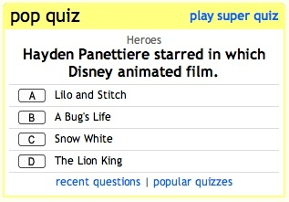 On what day was the Fanpop Pop Quiz released to the general public (based on Pacific Standard Time)?