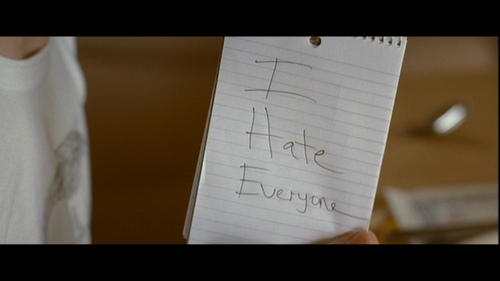 What is NOT one of the things Dwayne writes on his notepad?