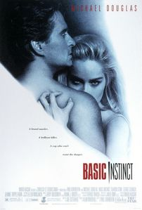 What weapon is used by the killer that Michael Douglas is trying to track down in the movie 'Basic Instinct'?