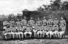 Ireland's first rugby match against England was in....