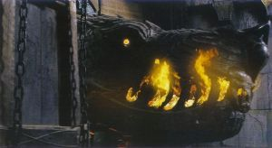 What is the name of the battering ram that destroyed Minas Tirith's Great Gate?