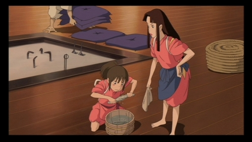 What does the boiler man give Lin so she'll take Chihiro to Yubaba?