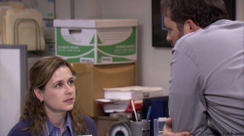 PICTURE THIS: What is Pam saying in this scene?