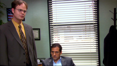 PICTURE THIS: What is Dwight saying in this scene?