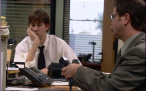 """What song is Dwight chant as he is setting up his bureau for work in """"The Pilot?"""""""