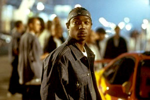 The character Edwin was played par a famous rapper, who also recorded a few songs for the soundtrack. Who is he?