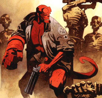 Who created the character of Hellboy?