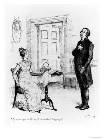 "FROM THE BOOK: Who said it? ""Mr. Collins has made an offer to Lizzy, and she will not have him."""