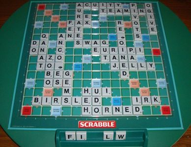 How many letter tiles would you find in a game of Scrabble, assuming you haven't been silly and lost a bunch?