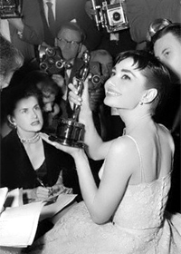 For which film did Audrey win her one and only Oscar?