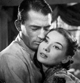 What character did Audrey play in the film 'Roman Holiday'?