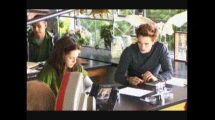 In Twilight, what happened to Bella and Edward in bio class when they were watching the movie?