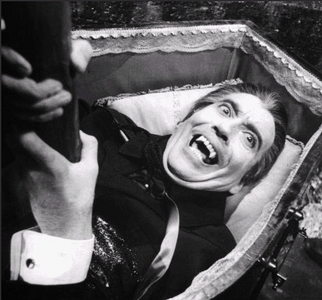 Which Dracula movie starring Christopher Lee is this scene from?