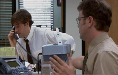 "What expression does Dwight misquote when he is talking about retaliation at the beginning of ""Diversity Day?"""