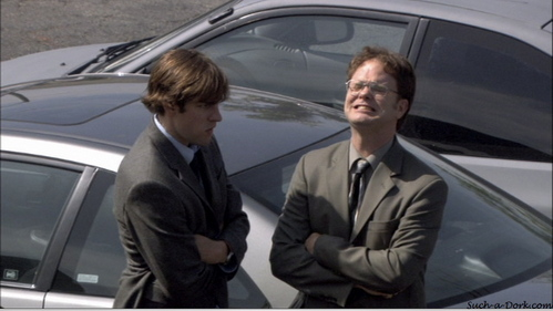 When Jim and Dwight form an alliance, who else in the office does Jim tell Dwight has an alliance?