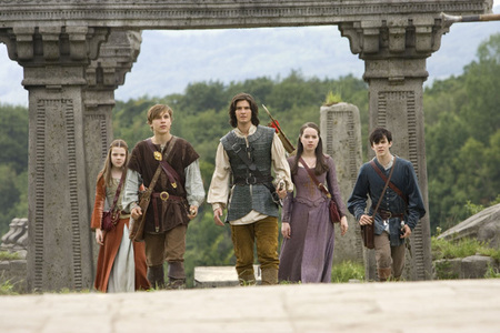 At the end of Prince Caspian, which two are told they can not return to Narnia?