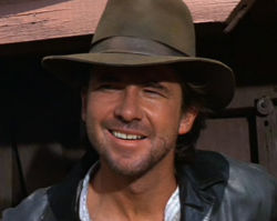 Young Indy gets his Fedora from a fellow treasure hunter in &#39;The Last Crusade&#39;. This man was meant to be Abner Ravenwood, Marion&#39;s Father... True or False?