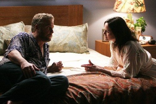 How long পূর্বে did Grissom tell Ecklie that he and Sara had first been intimate?