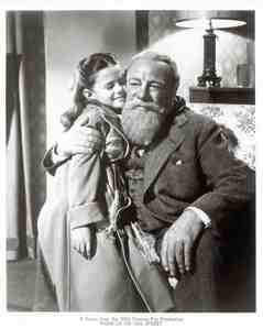 "This is a scene from the 1947 Christmas favourite ""Miracle On 34th Street."" Natalie Wood played Susan Walker but who is this actor who played Santa Claus?"