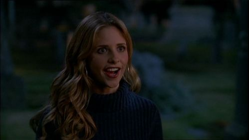 After Dracula introduces himself to Buffy, how does she respond?