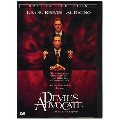 Al Pacino plays the Devil in 'The Devil's Advocate', he says to Keanu Reeves: 'I am the hand up _________'s skirt'. Whose skirt is he talking about?