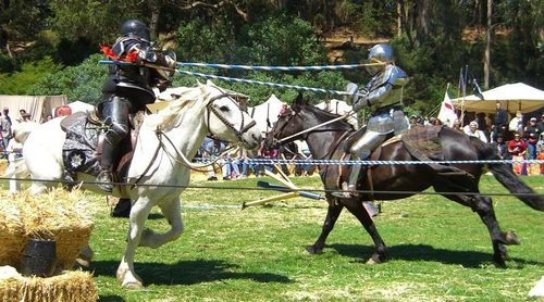 When was the the first recorded jousting tournament?