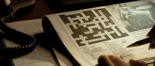 What answer on Joyce Cooper's crossword puzzle does Nicholas supply?