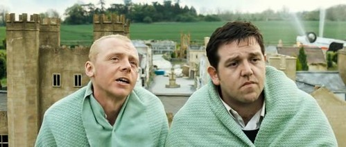 Simon Pegg and Nick Frost starred together in the film 'Shaun of the Dead.' What is NOT a similarity between that film and 'Hot Fuzz'?