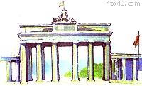 The Brandenburg gate is in...