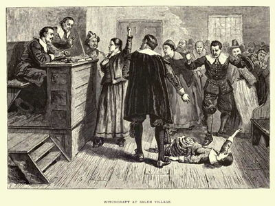 In which town did the more prominent Salem Witch Trials take place?