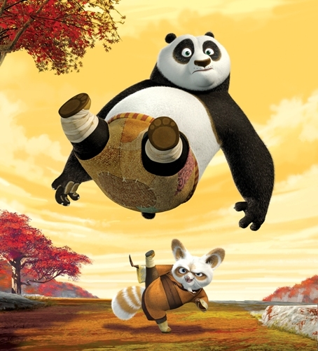 What happened at the end of the Kung Fu Panda credits?