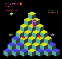 Identify this popular arcade game title from the early 80s