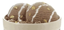 This popular ice cream flavor features chocolate ice cream, almonds (or walnuts) and marshmallow.