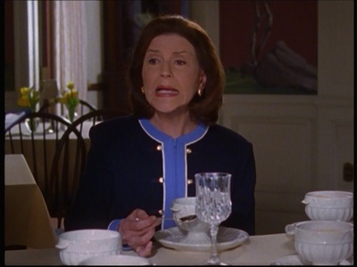 What kind of sopa does Emily choose to serve for her first DAR function at The Independence Inn?