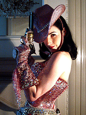 Which aspect of the clothing world is fashion-loving Dita trained in?