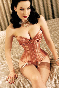 After years of performing burlesque, how small is the self-styled corset-queen's waist?