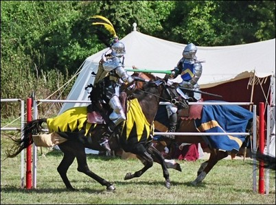 In Jousting, breaking a lance is worth how many points?